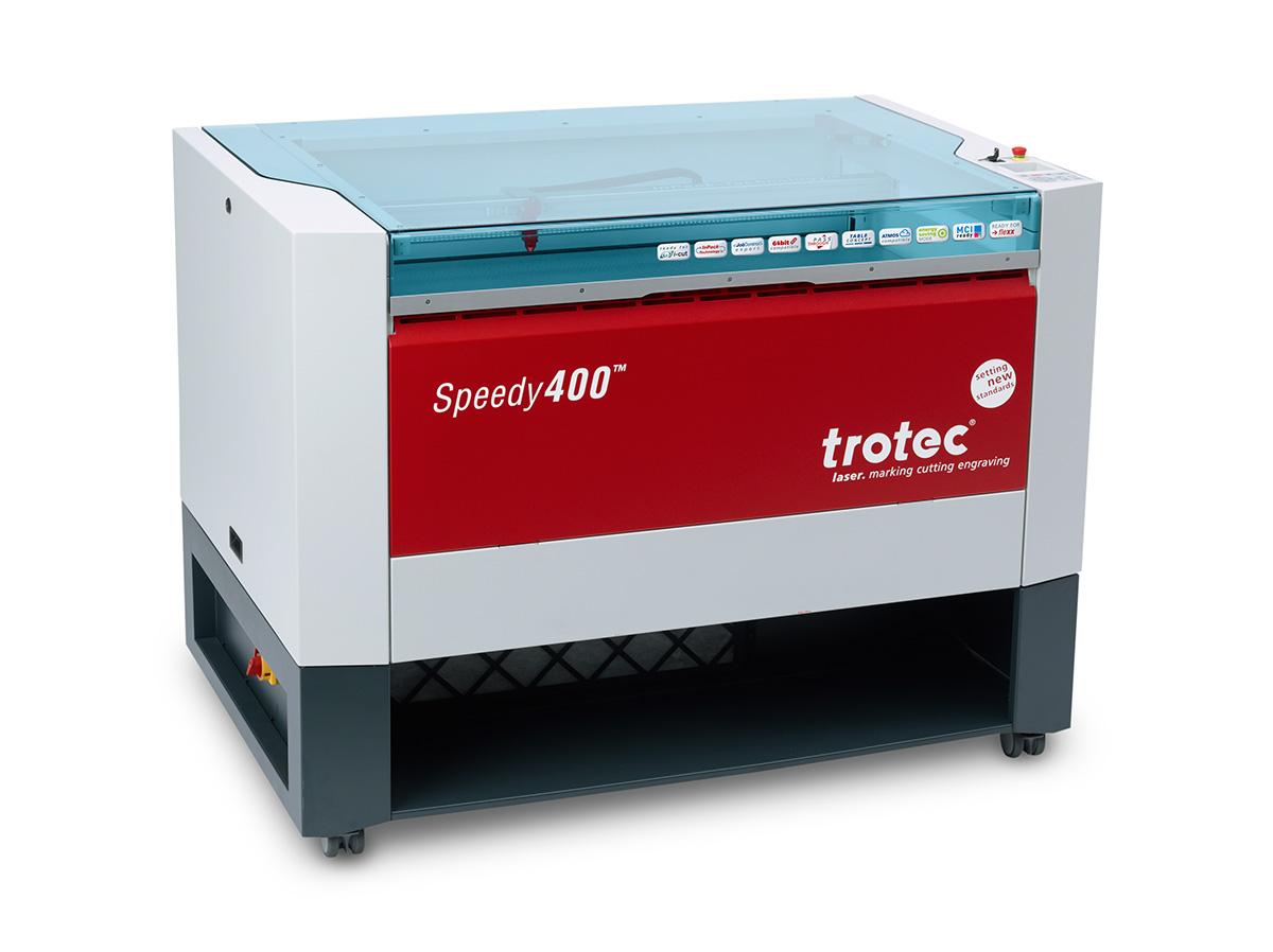 Trotec Speedy 400 - moderní plošný laser pro řezání, gravírování a popisování