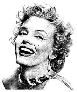 Gravírování guma foto Marilyn