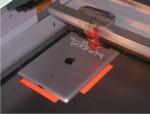 iPad laser engraving in a Trotec laser