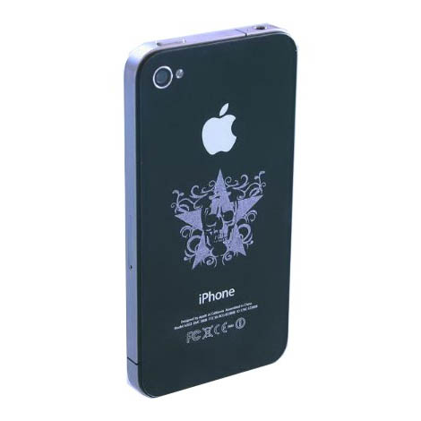 iPhone with laser engraving